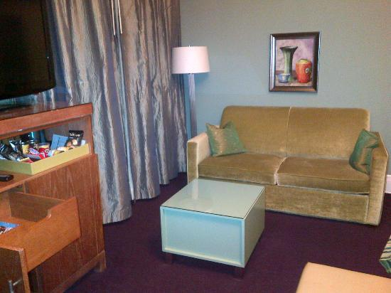 Galleria Park Hotel: Studio suite includes a couch
