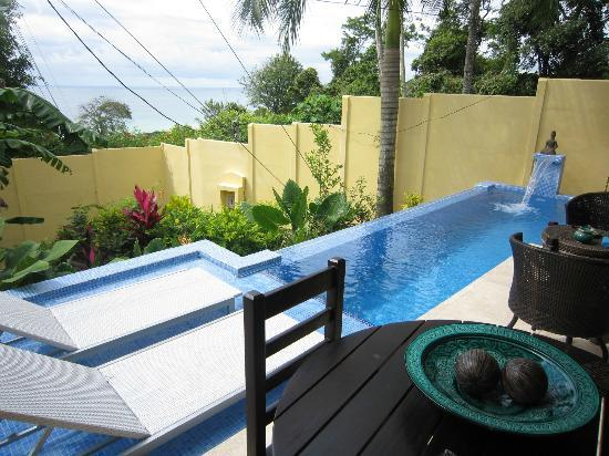 Hotel Casa Chameleon: villa sol porch/pool