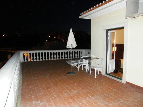 Torres Novas Hotel: Excecional varanda deste quarto no ultimo andar