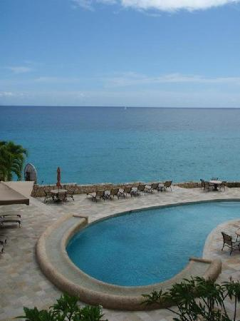 Rainbow Beach Club: view of main pool from condo balcony
