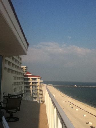 The Lighthouse Condominiums: View from balcony to the east