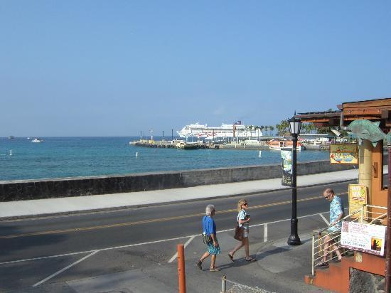 Kona Seaside Hotel: 海を、ながめながら朝食。