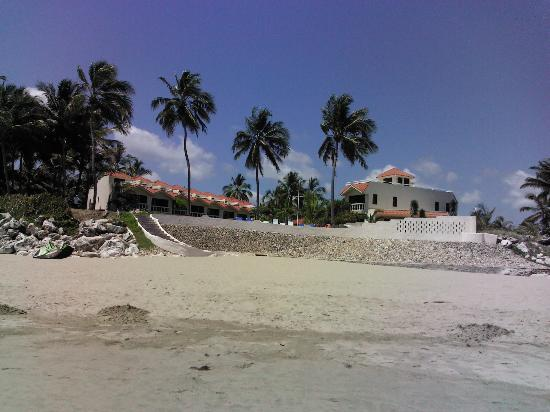 Cabarete Beach House at Nanny Estates: looking at the property from the beach, we stay in the one on the right