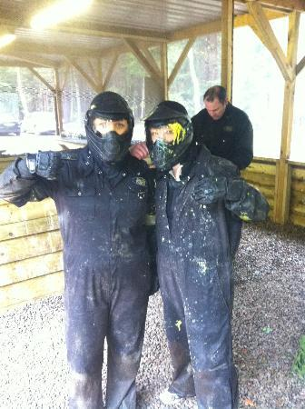 Delta Force Paintball Maidenhead: Me and Tanya from The Explore Group