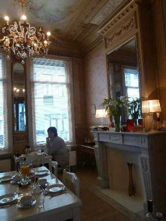 Antwerp B&B: The gorgeously decorated Breakfast Room