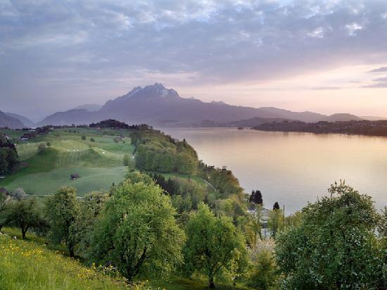 Luzern, Schweiz: Weggis Vitznau