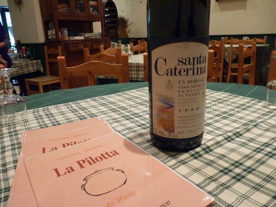 La Pilotta: Menu, the wine we chose