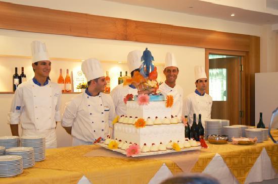 Lo staff del Ristorante dell'Hotel Turistica di Senigallia
