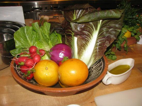 Rancho La Puerta Spa: Fresh produce at the cooking class