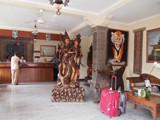 Kumala Hotel: Hotel Kumal reception area/lobby, in Legian, Kuta, Bali, Indonesia.
