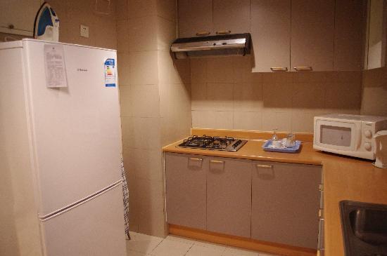 Lee Garden Service Apartment Beijing : Kitchen