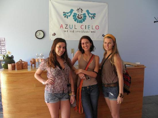 Azul Cielo Hostel: receives a warm welcome on arrival