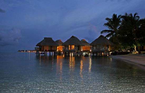 Maitai Polynesia Bora Bora: Overwater Bungalows by night