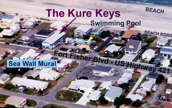 Kure Keys Motel: We're an oceanSIDE (not oceanfront) property, just 100 feet to the beach