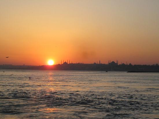 The Q-Inn Hotel Istanbul: Sunset from Asia