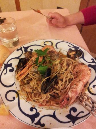 Hotel Fraderiana: Piatto di Spaghetti allo Scoglio