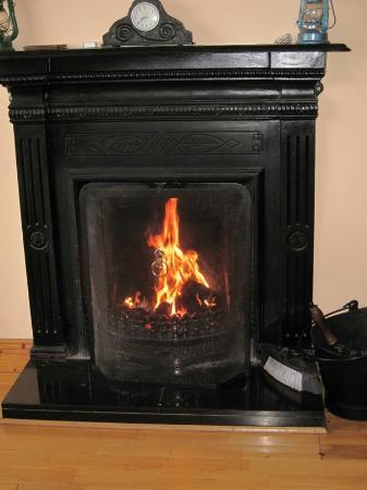 Seafield Farmhouse B&B: warm fire