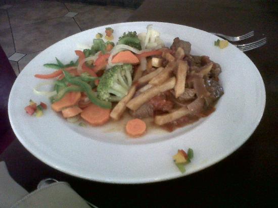 Hotel Ladera : Lomo saltado, lastima la falta de sabor y vegetales duros