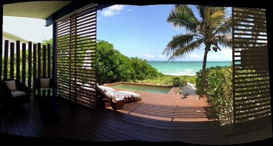 Rosewood Mayakoba: Our private deck by the beach..