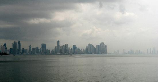 Amador Ocean View Hotel & Suites: Panama City Skyline from Amador Causeway.