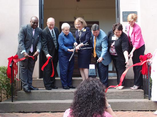 Massie Heritage Center : Dignitaries cut the ribbon as Massie opens the doors for the Grand Re-Opening.