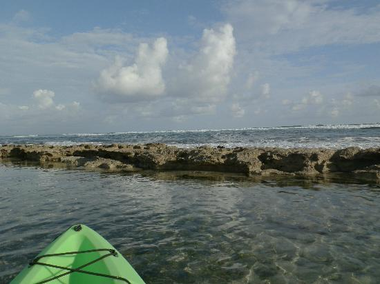 Ababor Suites: Kayaking, looking past the reef