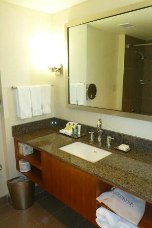 Hilton Toronto Airport & Suites: Bathroom