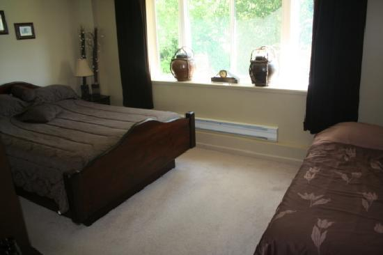 Red Top Bed and Breakfast: Queen/single Brown room