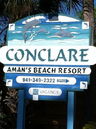 Conclare Aman's Beach Resort: sign