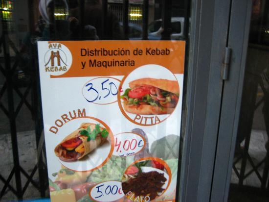 Valenciaflats Centro Ciudad: Halal Kebab Shop