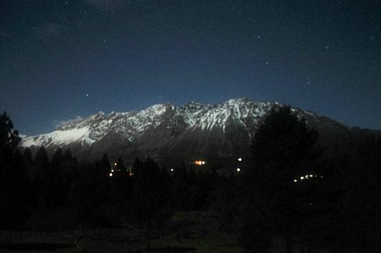 Cabañas El Refugio de Puelo : Panorámica nocturna desde El Refugio de Puelo