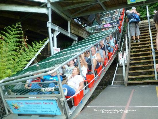 Colourful Trips - Day Tours: World's steepest inclined railway experience, Blue Mtns, Katoomba