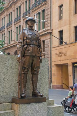 Figure at the Cenotaph
