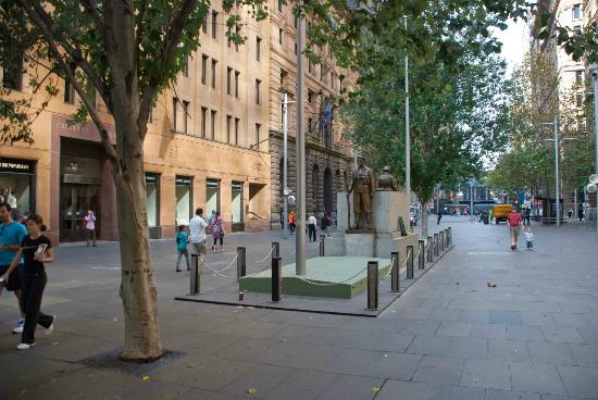 The Cenotaph at the bottom of Martin Place