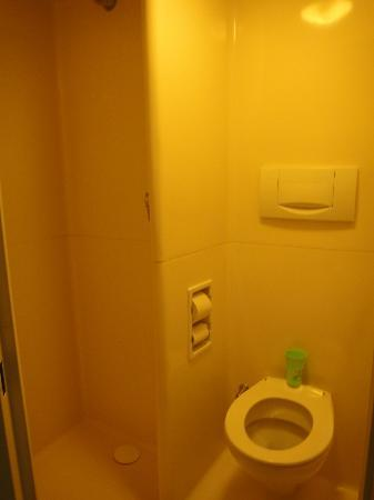 Ibis Budget Issy Les Moulineaux : this is the bathroom. Small, yet clean and convenient.:)