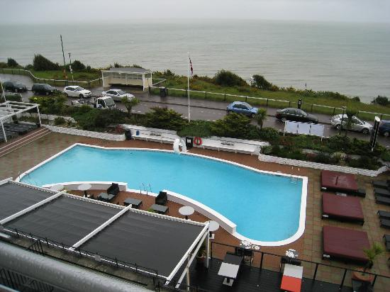 Nice view outdoor swimming pool sea picture of the - Hotels in bournemouth with swimming pool ...