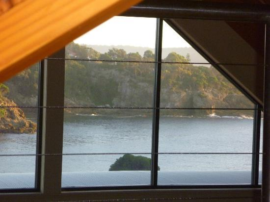 Snug Cove Villas: morning view from the bed in the loft
