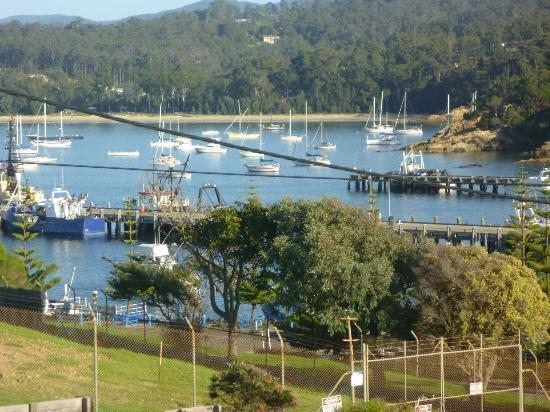Snug Cove Villas: view of the harbour from our balcony