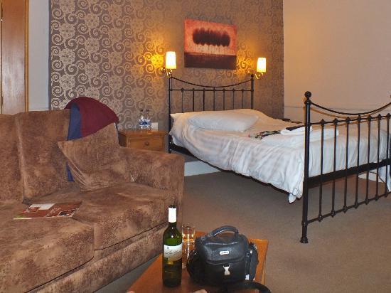 A bedroom at the Bear Inn