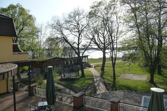 Kurhaus am Inselsee: Blick vom Balkonzimmer in der 2. Etage
