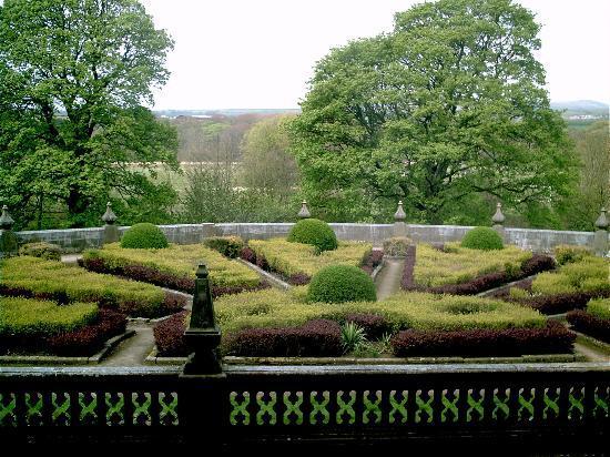 Gawthorpe Hall rear garden