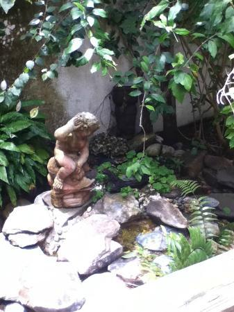 Casa Thorn Bed & Breakfast: fountain in the garden area