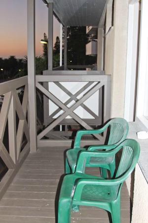 Hotel Pension Rapmund: Balcon sur la mer