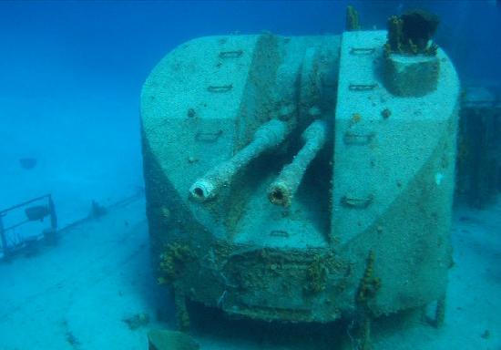 MV Captain Keith Tibbetts : MV Tibbetts - rear gun turret