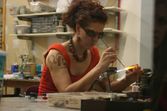 Mark Payton Glass Center @ The Glassworks Bldg: Lampwork artist Amy Lemaire