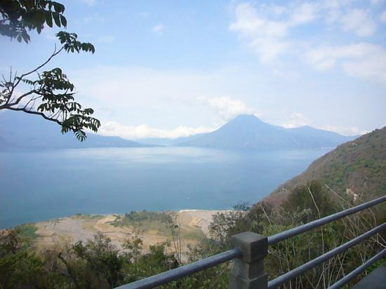 Lake Atitlan: view from the edge of the lake