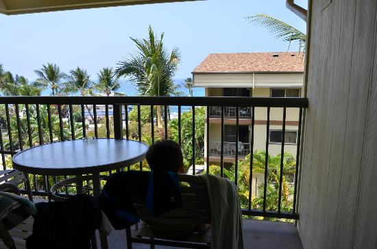 WorldMark Kona: View of ocean from balcony of #416