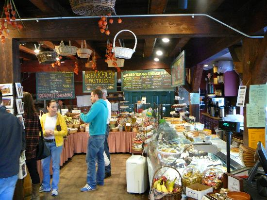 The Vermont Country Deli: Surrounded by deli-cious food