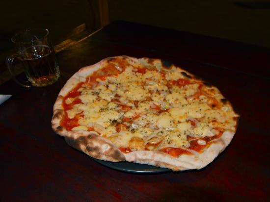 Biba Beach Cafe - Ristorante Italiano: Spicy pizza with Lombok chillies at Biba Pizza Cafe on Gili Air, Indonesia.