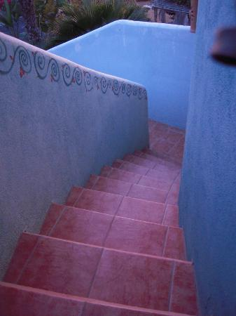 Las Palmas Tropicales: Steps leading to the del Mar Casita